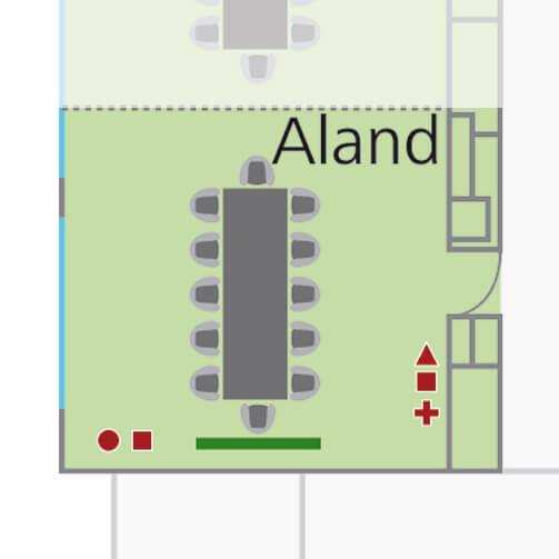 Tagungsraum Aland im Holiday Inn Hamburg, für bis zu 20 Personen.