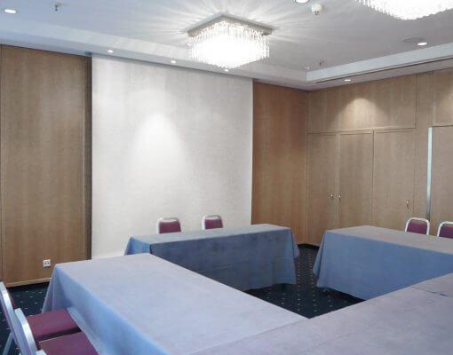 Tagungsraum Bille im Holiday Inn Hamburg, für bis zu 20 Personen.