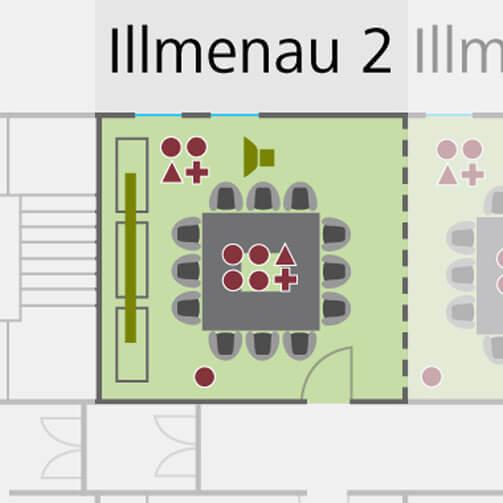 Tagungsraum Illumena 1 im Holiday Inn Hamburg, für bis zu 8 Personen.