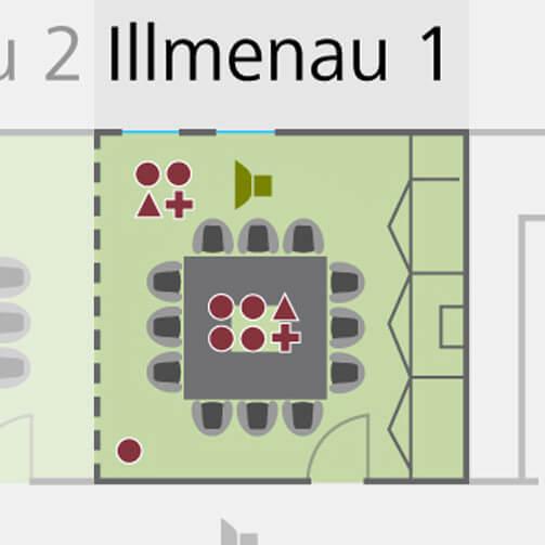 Tagungsraum Illumena 2 im Holiday Inn Hamburg, für bis zu 30 Personen.
