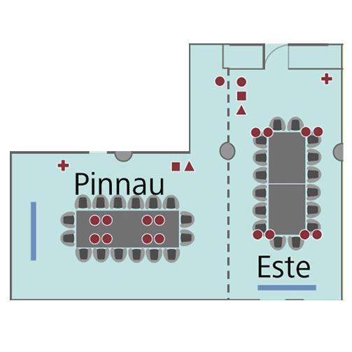 Tagungsraum Pinnau+Este im Holiday Inn, für bis zu 40 Personen.