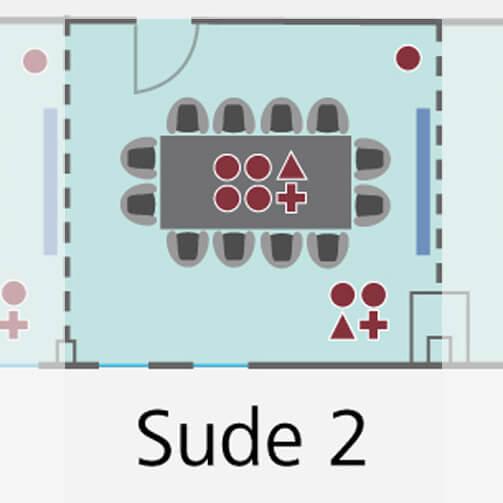 Tagungsraum Sude 2 im Hotel Holiday Inn für bis zu 8 Personen.