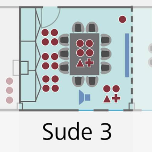 Tagungsraum Sude 3 im Holiday Inn Hamburg, für bis zu 8 Personen.